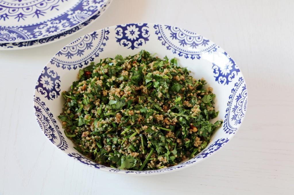 סלט ירוקים עם וויניגרט דבש